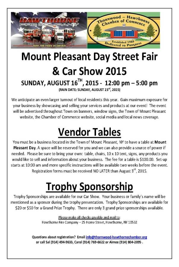 Mt Pleasant Day 2015